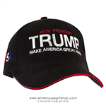 Donald J. Trump, Hat, 45th President -Make America-Great-Again, Made in USA, 100% American Made,-from official white house gifts and gift shop-historical collection.