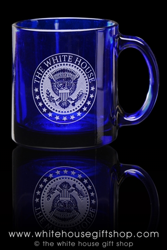 White House Seal Clear Cobalt Mug