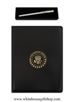 White House Folio & President of the United States Silver Roller Ball Pen Set