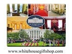 The Rooms of the White House Photo Collage Magnet
