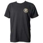 The White House Seal of the President Black and Embroidered T-Shirt from the Official White House Gift Shop Apparel Gifts Collection is Made in the USA by American Textile Workers