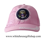 Baseball Style White House Rose Color Hat