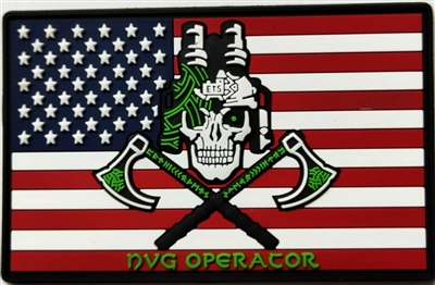 NVG Operator Flag Patch, PVC