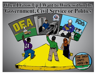 When I Grow Up I Want to Work within the Government, Civil Service or Politics