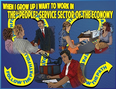 "When I Grow Up I Want to work in the ""People"" Sector of the Economy"
