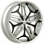 "Velocity Wheel VW815 Replacement Black 22"" Inserts"