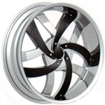"Velocity Wheel VW825 Replacement Black 24"" Inserts"