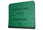 20pt Type I Pressboard Credentialing Folder,  Top Tab