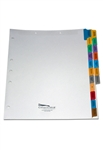 90lb White Allied Health Tab Divider Set, Side Tab, Preprinted