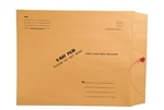 <b>X-Ray Film Mailers - String & Button Closure, 28lb Brown Kraft</b>