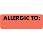 "Allergy Warning Label, 1"" X 3"""