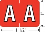 "Alpha Label, 1"" x 1-1/2"""