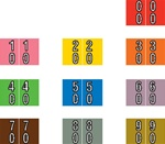 "Double Digit Numeric Label, 1"" x 1-1/2"""