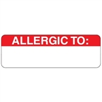 Allergy Warning Labels - Red/White