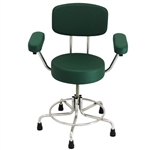"<b>MRI Chair - Green, With Back and Arms, 17"" - 23""H</b>"