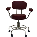 "<b>MRI Chair - Burgundy, With Back and Arms, 21"" - 27""H</b>"