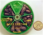 Tournament Choice - Bass Casting Sinkers - 27 Piece Dial Pack BC27
