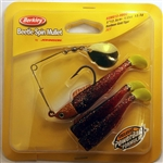 "Berkley Johnson Saltwater Beetle Spin Mullet 5"" 1/2 oz BSMU12-RBGC (Rootbeer Gold/Chart Tail)"