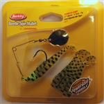 "Berkley Johnson Saltwater Beetle Spin Mullet 4"" 1/4 oz BSMU14-CSBT (Chart Sparkle Blk Tiger)"