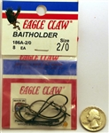 Eagle Claw Baitholder Hooks Size-2/0 Bronze 186A-2/0 8 Pack