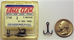 Eagle Claw Bronze 2X Treble Hooks Size-#8 374R-8 5 Pack