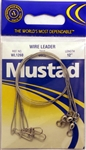 "Mustad Wire Leaders 12"" 60lb WL1260 Duolock Snaps"