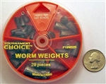 Tournament Choice - Worm Weights - 29 Piece Dial Pack WS29