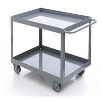 Steel 2 Shelf 24X36: 2 Rigid Caster and 2 Swivel Caster Feet