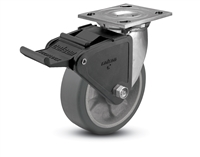 Stainless Steel Heavy Duty 4x2 Transforma HD Swivel Caster with Tech Lock Brake