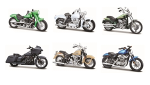 1:18 Harley-Davidson - Series 37 - Assortment ( 6 different bikes )