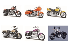 1:18 Harley-Davidson - Series 38 - Assortment ( 6 different bikes )