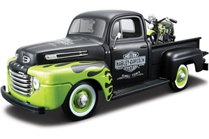 1:24 Ford '48 Pickup - 1:24 Harley Motorcycles