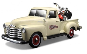 1:24 Chevy Pickup '50 - 1:24 Harley Motorcycles