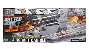 "Battle Zone - 31"" Electronic Aircraft Carrier w/ 4 Die-Cast F"