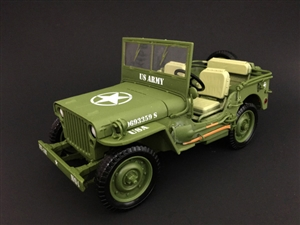 1:18 Army Jeep - US Army (Green)