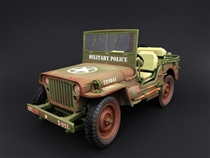 1:18 Army Jeep - Military Police (Dirty Version)