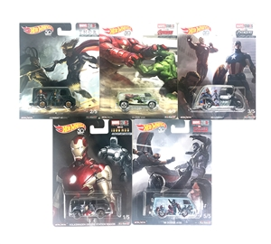 1-64 Hot Wheels Pop Culture - Marvel Studios 10th Anniv 2018