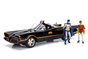 1:18 1966 CLASSIC TV SERIES BATMOBILE W/LIGHT, BATMAN &