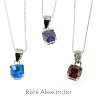 Rishi Alexander 925 Sterling children's birthstone necklace