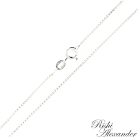 Sterling Silver 1.1mm thick Box Chain with spring ring clasp