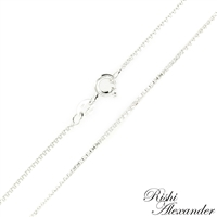 Sterling Silver 1.5mm thick Box Chain with a spring ring clasp