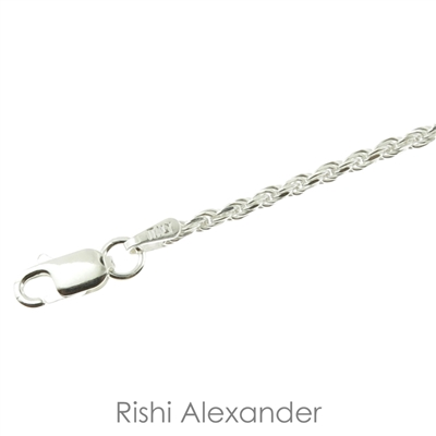 925 sterling silver diamond cut rope chain necklace gorgeous bracelet