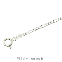 Sterling Silver Figaro Chain 2mm thick with spring ring clasp