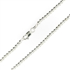 Sterling Silver Ball Bead Chain 3mm thick with lobster claw clasp