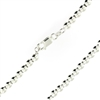 Sterling Silver Ball Bead Chain 5mm thick with lobster claw clasp