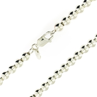 Sterling Silver Ball Bead Chain 6mm thick with lobster claw clasp