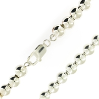 Sterling Silver Ball Bead Chain 8mm thick with lobster clasp