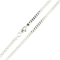 Sterling Silver Cuban Chain 3mm links with lobster clasp