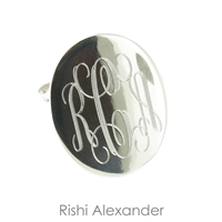 Rishi Alexander Sterling Silver oval Signet Ring Highly Polished