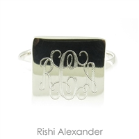 Rishi Alexander Sterling Silver Square Signet Ring Highly Polished